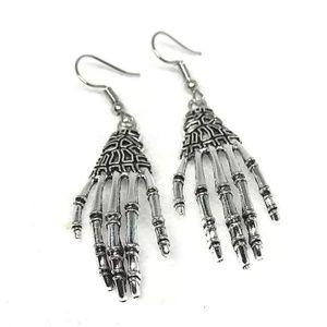 Other - Skeleton Hand Vintage Earrings Halloween Jewlery